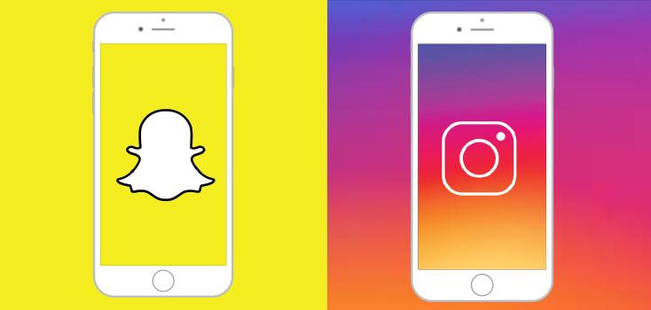 Snapchat on instagram