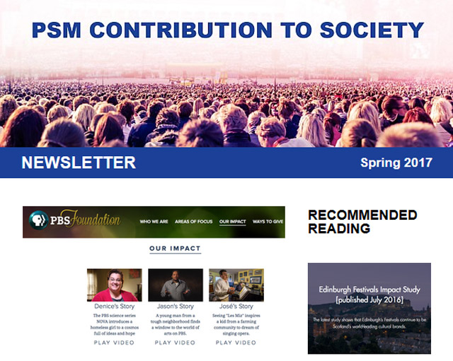 PSM Contribution  to Society newsletter